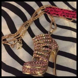 Pink Crystal Bling High Heel